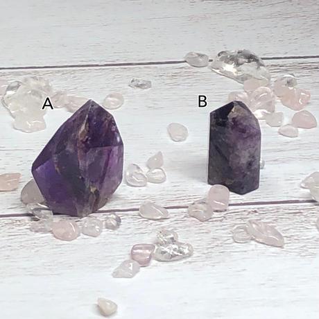 【プチプラ】虹入りエレスチャル(紫)