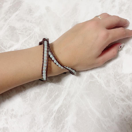 【プチプラ】天然石ラップブレス