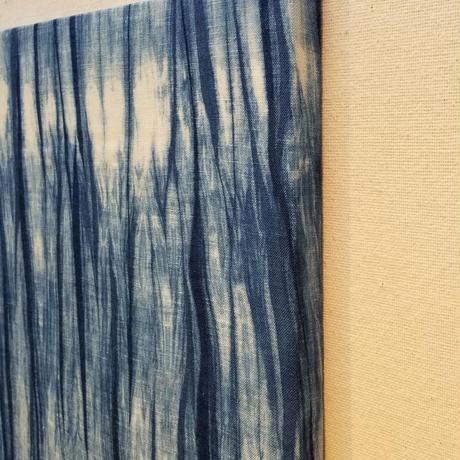 渡辺洋美 本藍染壁掛 『漣』