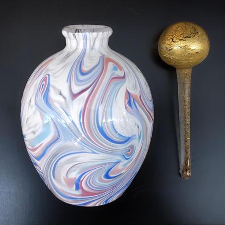 迫二郎 「大理石文硝子栓瓶(香水瓶)」