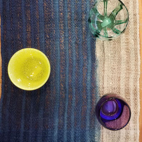 渡辺洋美 本藍染・麻ランナー ⑩