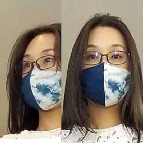 渡辺洋美 本藍染コットン100%マスク