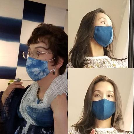 渡辺洋美 リトアニアリネン100% 本藍染マスク