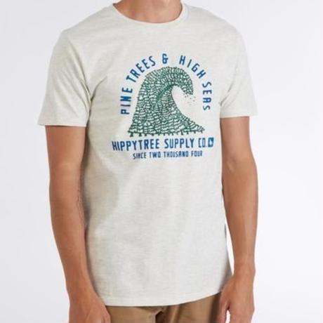 HIPPY TREE PINEWAVE TEE Heather Natural