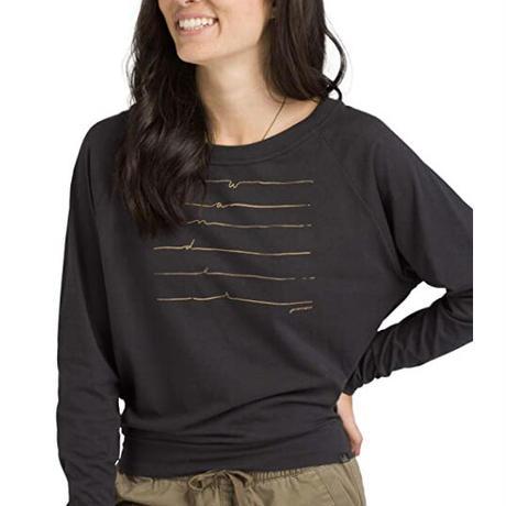 PRANA Womens Graphic Long Sleeve Tee Black Wonder