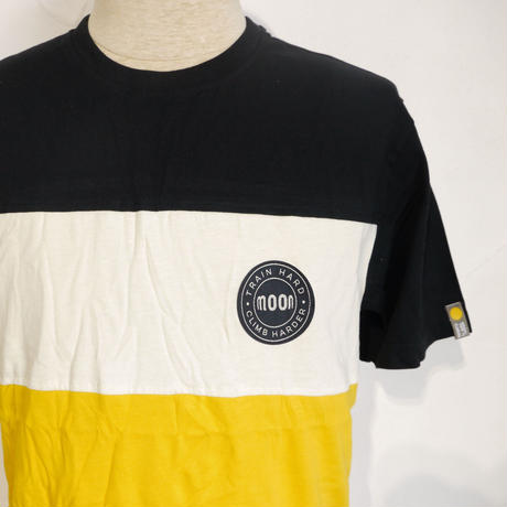 MOON CLIMBING  Mens Block T-Shirt Black/Stone/Gold