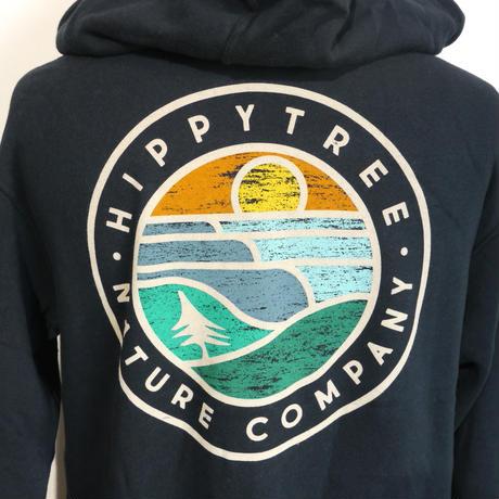 HIPPY TREE WAVE FORM HOODY Navy