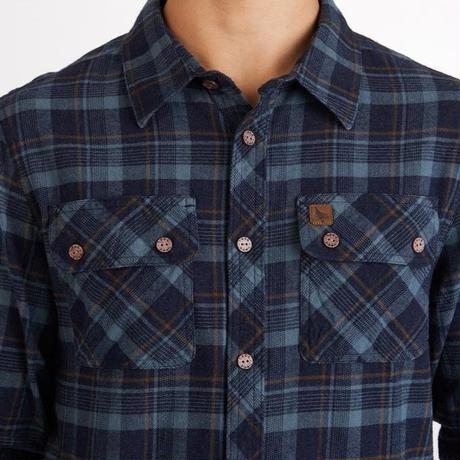 HIPPY TREE BAKER FLANNEL Navy
