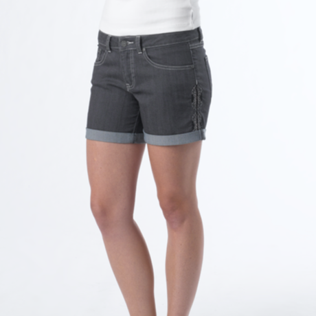 PRANA Womens Kara Denim Short White