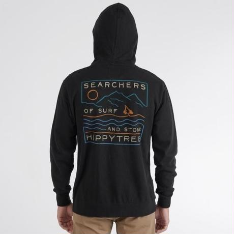 HIPPY TREE CHALKMARK HOODY Black