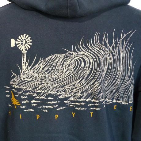 HIPPY TREE WIND BREAK HOODY Navy