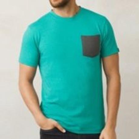 PRANA Pocket T-Shirt Emerald Water