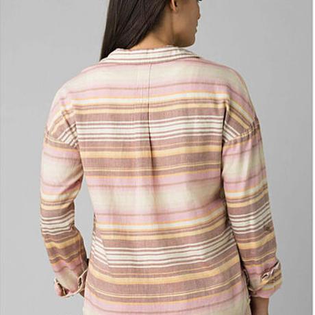 PRANA Womens Percy Top Stone Stripe