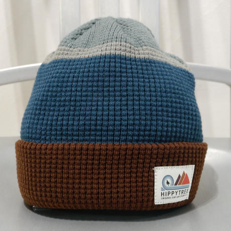 HIPPY TREE STRATA BEANIE Blue