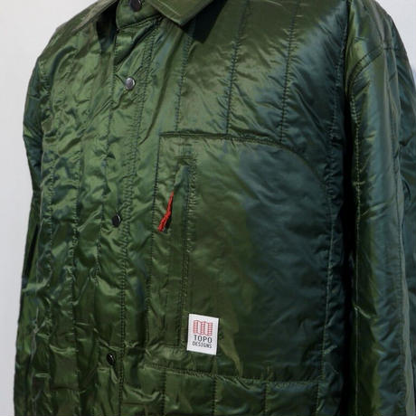 TOPO DESIGNS INSULATED SHIRT JACKET-MEN'S Olive
