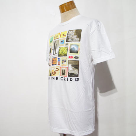 HIPPY TREE COLLAGE TEE White