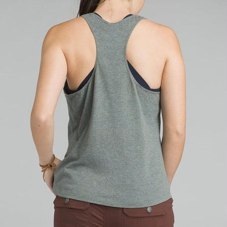 PRANA Womens Graphic Tank Charcoal Heather