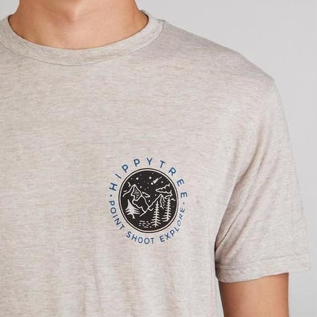 HIPPY TREE FOCAL POINT TEE Heather Natural