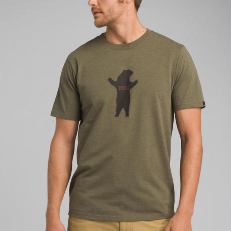 PRANA Bear Squeeze Journeyman T-Shirt Cargo Green Heather