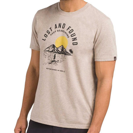 PRANA Bradhaw T-Shirt Dark Khaki Heather