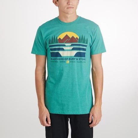 HIPPY TREE LAND FORM TEE Heather Green
