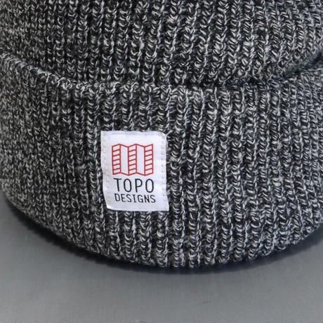 TOPO DESIGNS WATCH CAP Black/White Marl