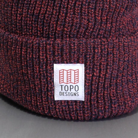 TOPO DESIGNS WATCH CAP Red/Navy Marl