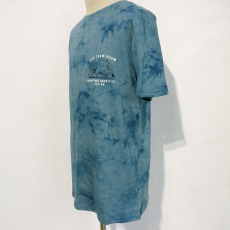 HIPPY TREE BISON CLOUD WASH TEE Blue