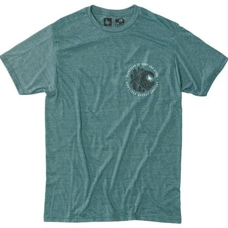 HIPPY TREE BRUSHSTROKE TEE Heather Teal