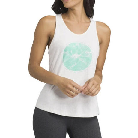 PRANA Womens Graphic Tank White Forest