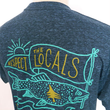 HIPPY TREE LOCALS TEE Heather Navy