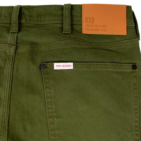 TOPO DESIGNS 5 POCKET PANTS TWILL Olive