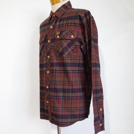 HIPPY TREE MORRO FLANNEL SHIRT  Rust