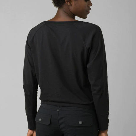 PRANA Graphic Long Sleeve Tee Black Reflections