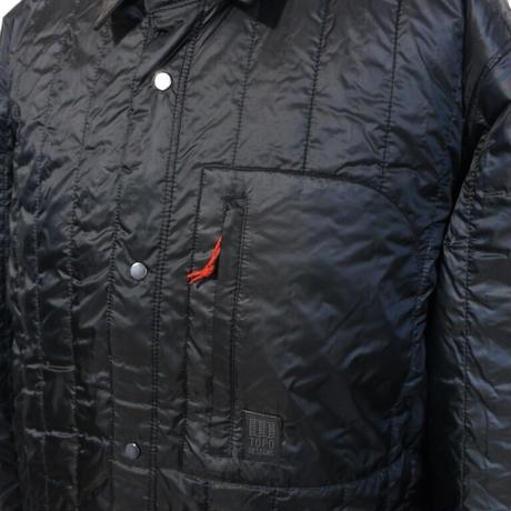 TOPO DESIGNS INSULATED SHIRT JACKET-MEN'S Black