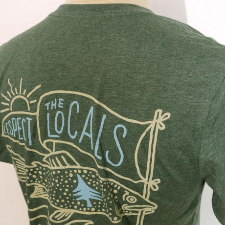 HIPPY TREE LOCALS TEE Heather Forest