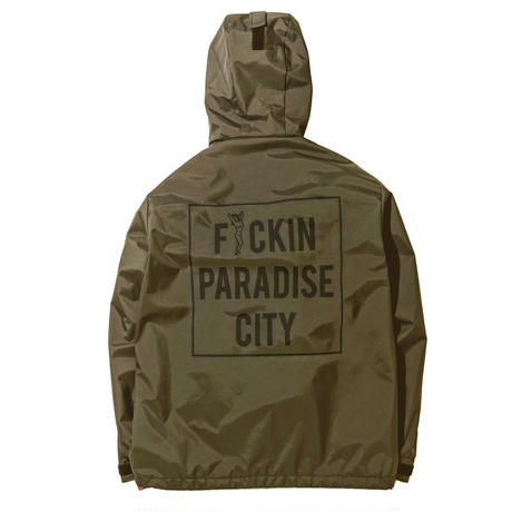 "SANTOWN  ""ODYSEEY"" Coach Jacket PARADISE CITY version - Olive -"