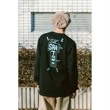 SANTOWN Welcome Sign L/S Tee - Black