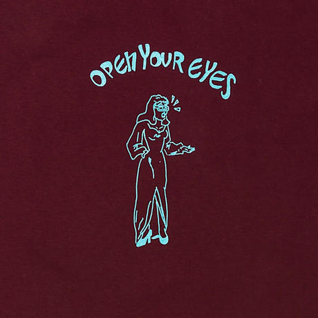SANTOWN Open Your Eyes S/S Tee - Burgundy