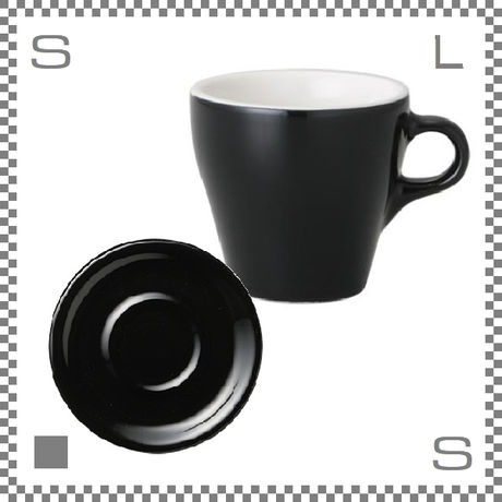 ORIGAMI オリガミ ラテカップ&ソーサー ブラック 8oz 250cc コーヒーカップ&ソーサー バリスタが設計 日本製