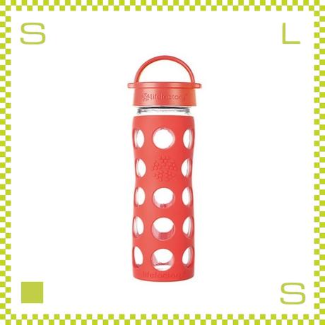 LIFEFACTORY ライフファクトリー グラスボトル クラシックキャップ 350 ポピー 350ml 携帯ボトル ガラスボトル