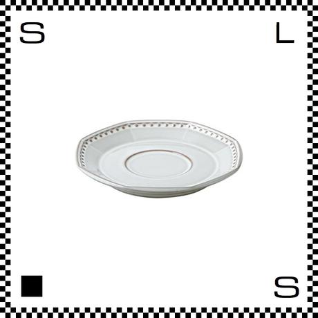 Coline コリーヌ ソーサー ネージュ ホワイト W158/D155/H23mm オクタゴン 八角形 クラシックデザイン 日本製