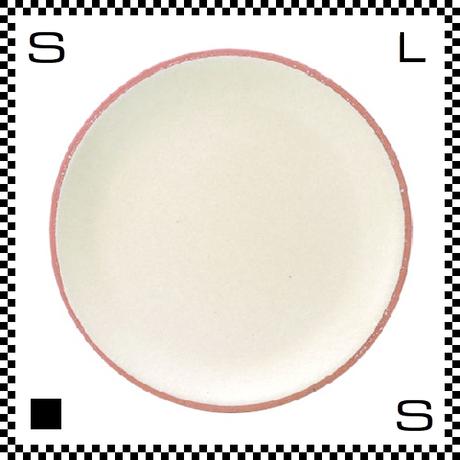 信楽焼 Whip ホイップ 大皿 クリーム ホワイト Φ23/D2.5cm ラウンドプレート 平皿 パステルカラー ハンドメイド 日本製