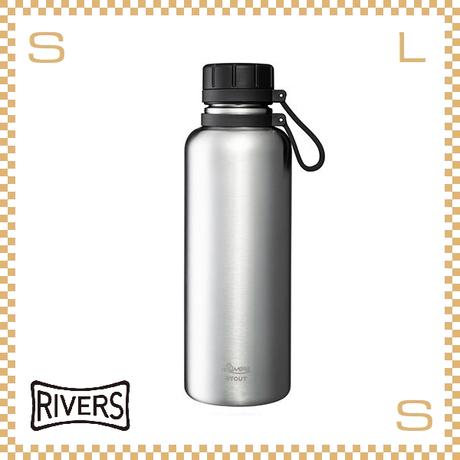 RIVERS リバーズ バキュームフラスク スタウト 1000 シルバー W113/D88/H270mm 1000ml 約491g 魔法瓶 ストラップ付 中栓付 ステンレス製