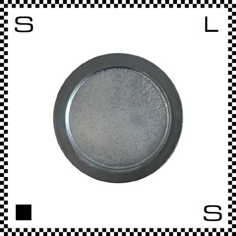 ヤマ庄陶器 信楽焼 Deep Breath 深呼吸 小皿 ブラック Φ10.5/H1cm ラウンドプレート 光沢仕上げ ハンドメイド 日本製
