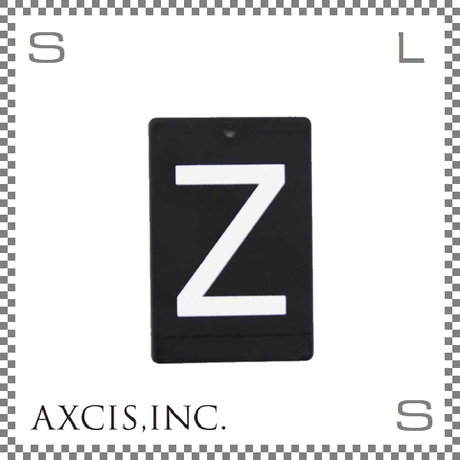 """AXCIS アクシス アイアンプレート """"Z"""" W40/D2/H60mm アルファベットプレート スチール製 アイアンネームプレートホルダー用 hs2583"""