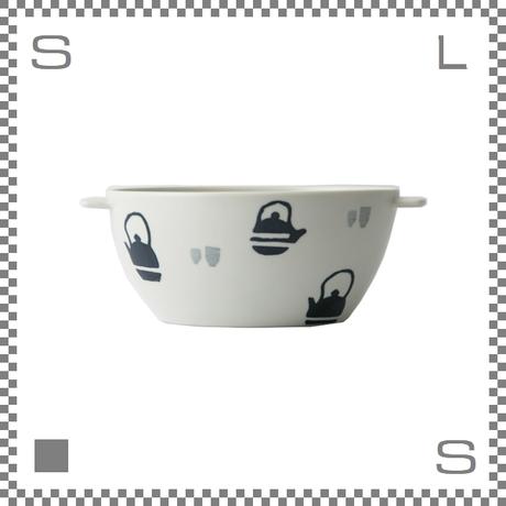 aiyu アイユー 丼 どんぶり 茶器 W20.5/D14/H7.7cm 750cc 持ち手付 ボウル シチュー皿 波佐見焼 日本製