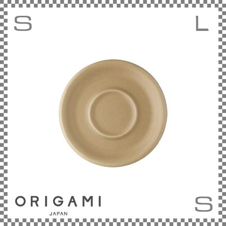 ORIGAMI オリガミ 6oz/8ozカップ兼用ソーサー マットベージュ Φ147/H17mm コーヒーカップ用ソーサー 日本製