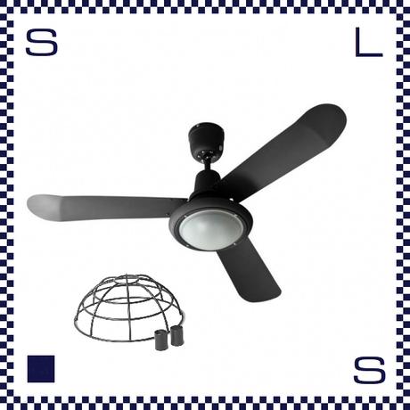 HERMOSA ハモサ TRISLANDER トライスランダー シーリングファン 48インチ ワイヤーシェードモデル ブラック 白熱球付 クラシカル