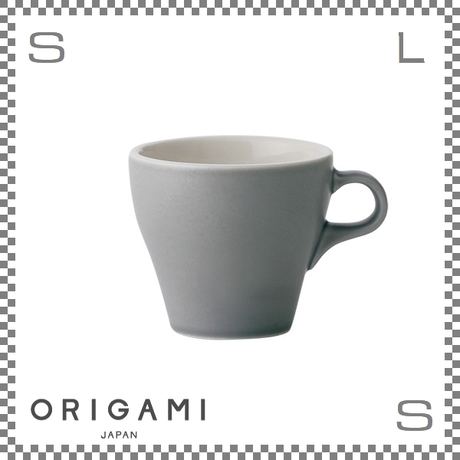 ORIGAMI オリガミ ラテカップ マットグレー 8oz Φ90/W112/H81mm 250cc コーヒーカップ バリスタが設計 日本製